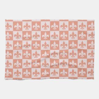 Peach Fleur de lis Hand Towel