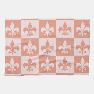 Peach Fleur de lis Towel