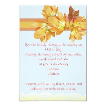 Beach Themed Peach Floral Card