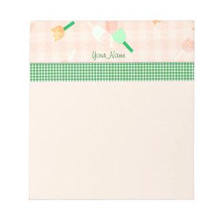 Peach Floral Notepad