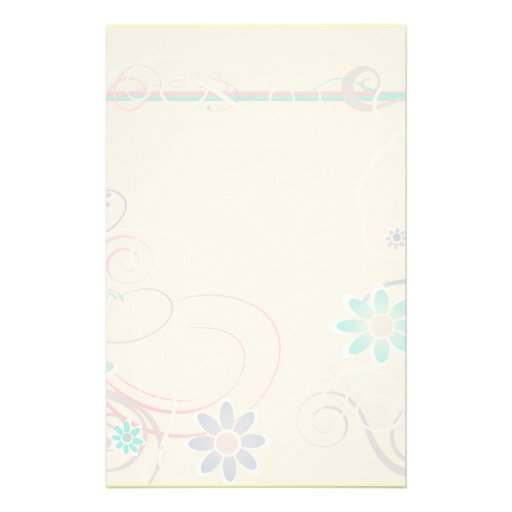 Peach Floral Stationery