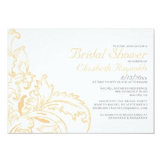 Peach Flourish Bridal Shower Invitations