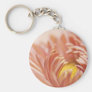 Peach Flower Photograph Key Chains
