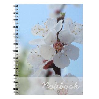 Peach Flowers Notebook