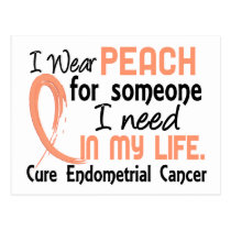 Peach For Someone I Need Endometrial Cancer Postcard
