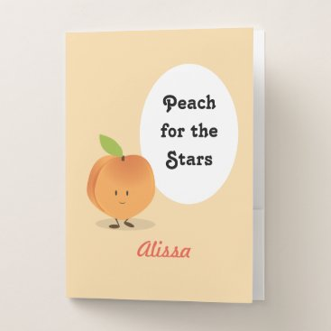 Professional Business Peach for the Stars | Pocket Folder