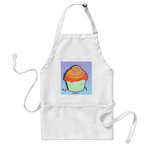 Peach Frosted CUPCAKE APRON