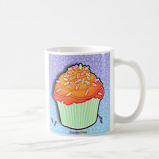 Peach Frosted CUPCAKE CUP, TRAVEL MUG, STEIN