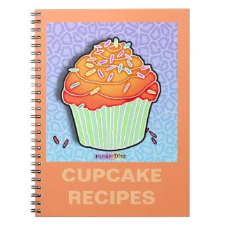 Peach Frosted Cupcake RecipeNotebook Notebook