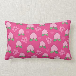 Peach Fruit Fuchsia Pattern Throw Pillow
