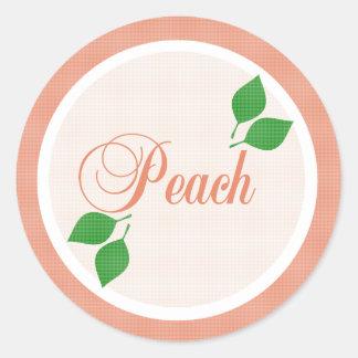 Peach Fruit Label Sticker