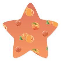 Peach Fruit Pattern Star Sticker