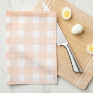 Peach Gingham Kitchen Towel
