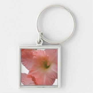 Peach Gladiola Flowers Keychains