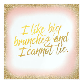 Peach Gold I like Big Brunches Invitation Pearl