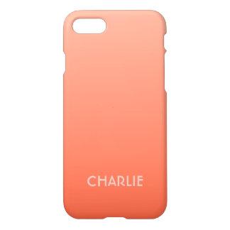 Peach Gradient custom monogram phone cases