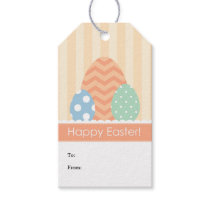 Peach Green Blue Eggs Happy Easter Gift Tags
