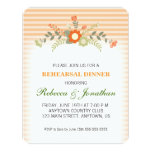 Peach & Green Floral Wedding Rehearsal Dinner Card