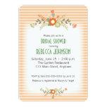 Peach & Green Flowers Bridal Shower Card