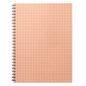 Professional Business Peach Grid Notebook