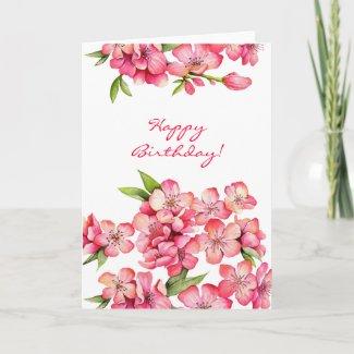 Peach Happy Birthday card zazzle_card