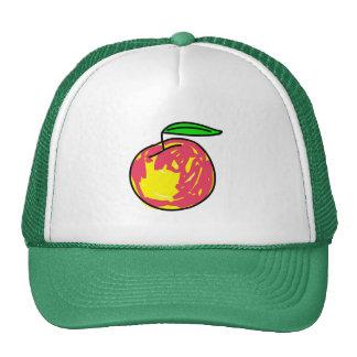 peach mesh hats