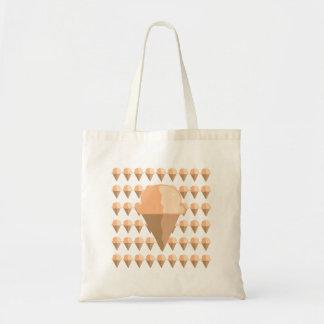 Peach Ice Cream Cone Tote Budget Tote Bag