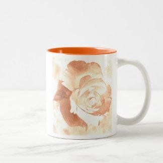 Peach Impression Rose Two-Tone Coffee Mug