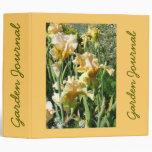 """Peach Iris Garden Journal - Avery 2"""" Binder"""