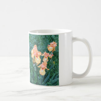 Peach Iris Mug, Spring Garden Blooms Coffee Mug