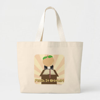 Peach It Brother Large Tote Bag