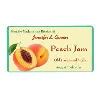 Peach Jam or Preserves Canning Jar Label