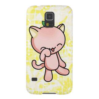 Peach Kitty Galaxy S5 Cover