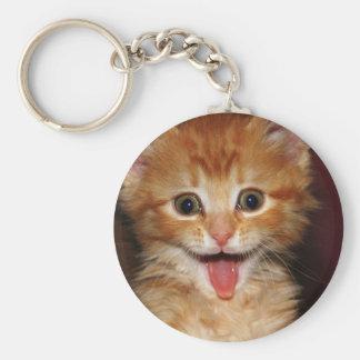 peach kitty keychain