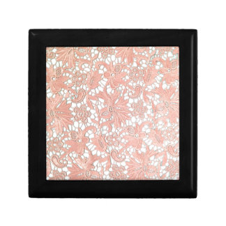 Peach Lace Jewelry Box