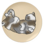 Peach Lounger Party Plate