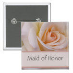 Peach Maid of Honor Wedding PIn