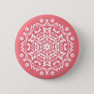 Peach Mandala Button