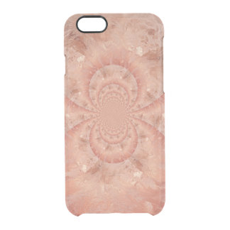 Peach Marble Swirl Luster Optical Illusion Clear iPhone 6/6S Case