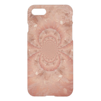 Peach Marble Swirl Luster Optical Illusion iPhone 7 Case