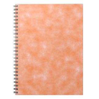 Peach Marbleized Spiral Notebook