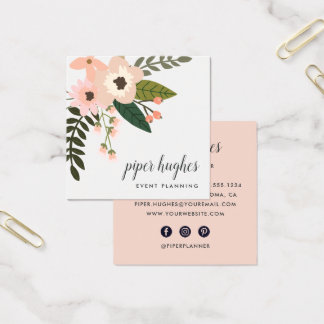 Peach Meadow Square Business Card