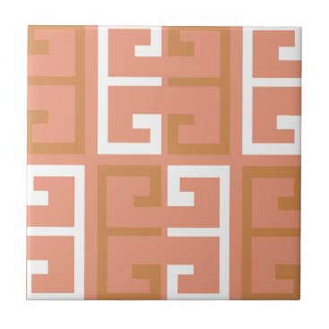 Aztec Themed Peach Melba Tile