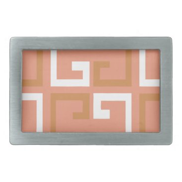 Aztec Themed Peach Melba Tile Belt Buckle
