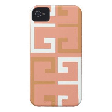 Aztec Themed Peach Melba Tile Case-Mate iPhone 4 Case