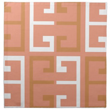 Aztec Themed Peach Melba Tile Cloth Napkin