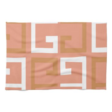 Aztec Themed Peach Melba Tile Hand Towel