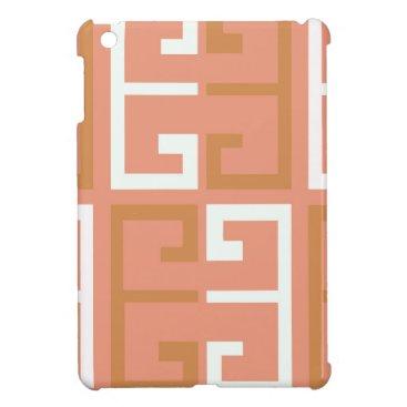 Aztec Themed Peach Melba Tile iPad Mini Cases