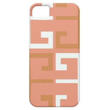 Aztec Themed Peach Melba Tile iPhone SE/5/5s Case