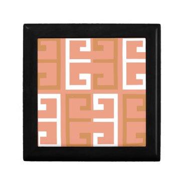 Aztec Themed Peach Melba Tile Jewelry Box